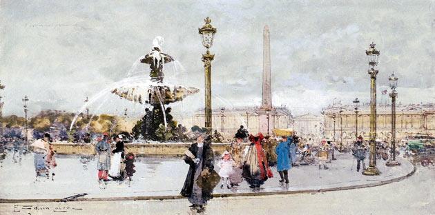 Galien-Laloue - La place de la Concorde