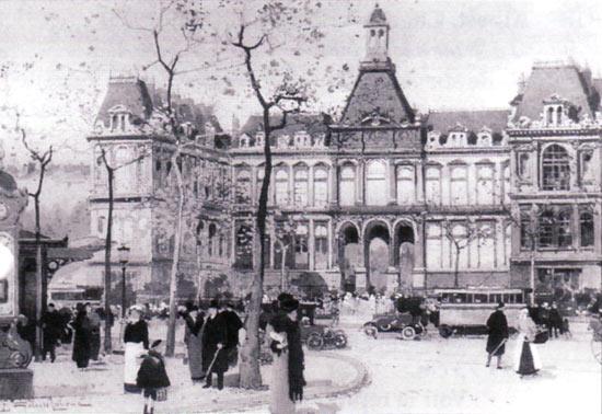 Galien-Laloue peint L'Hôtel de ville