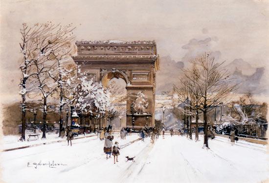 Galien-Laloue peint Les Champs Elysées