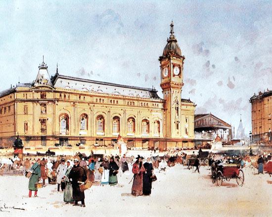 Galien-Laloue works - Paris Train Stations